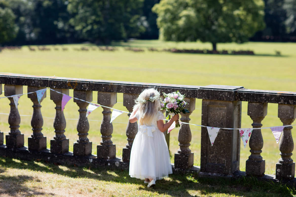 flower girl at bridwell park devon