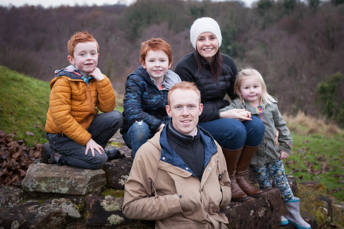 Family portrait at Bothwell Castle