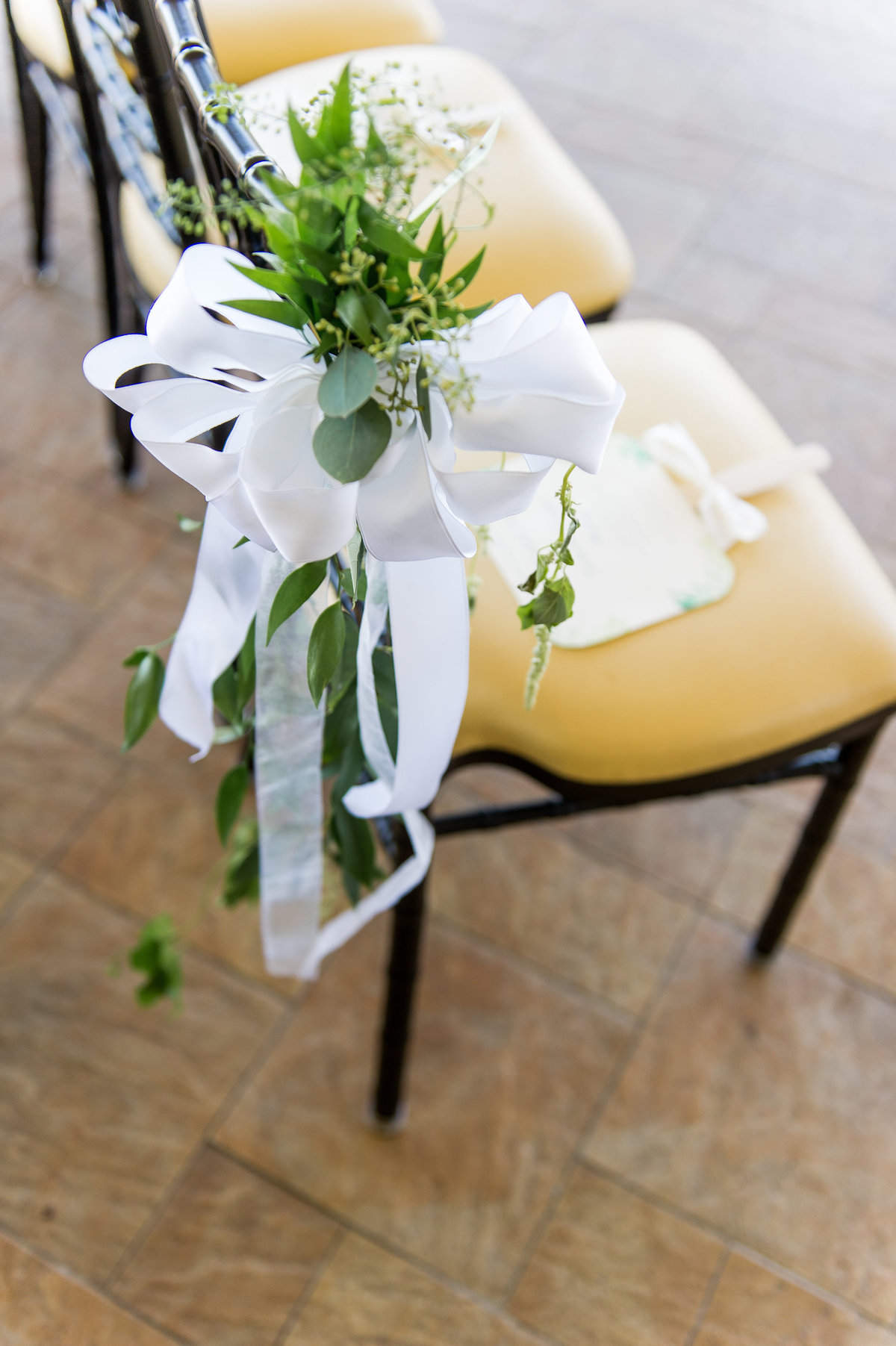 Floral decor for the ceremony aisle