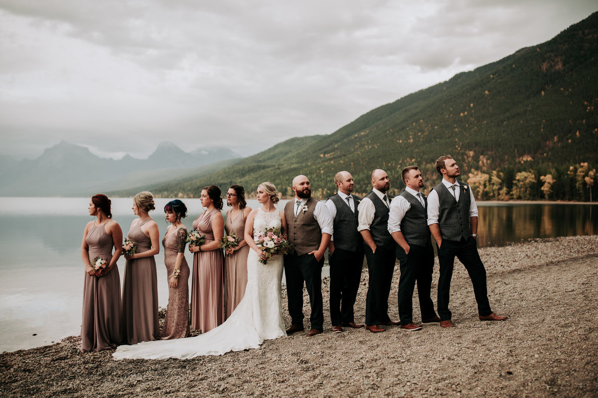 Lake McDonald, Glacier National Park wedding photos