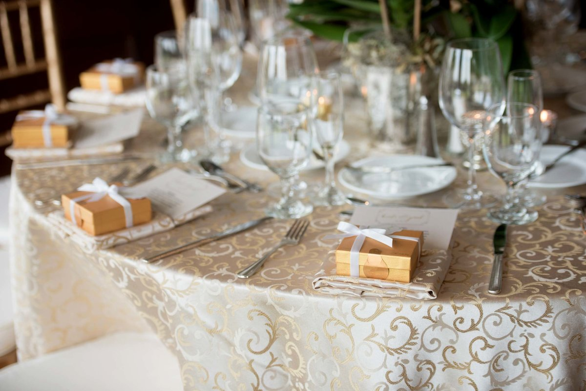 Table setting at Huntington Crescent Club