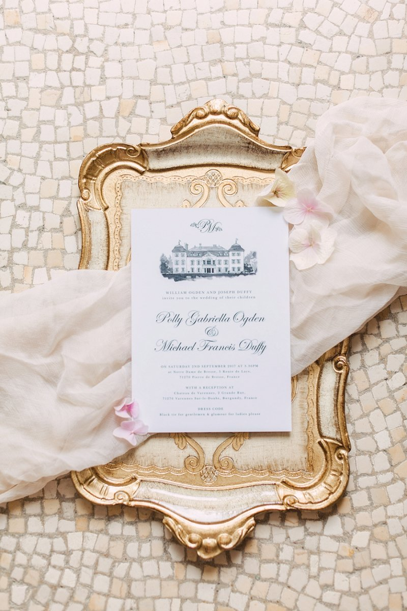 Venue Personalised luxury wedding invite