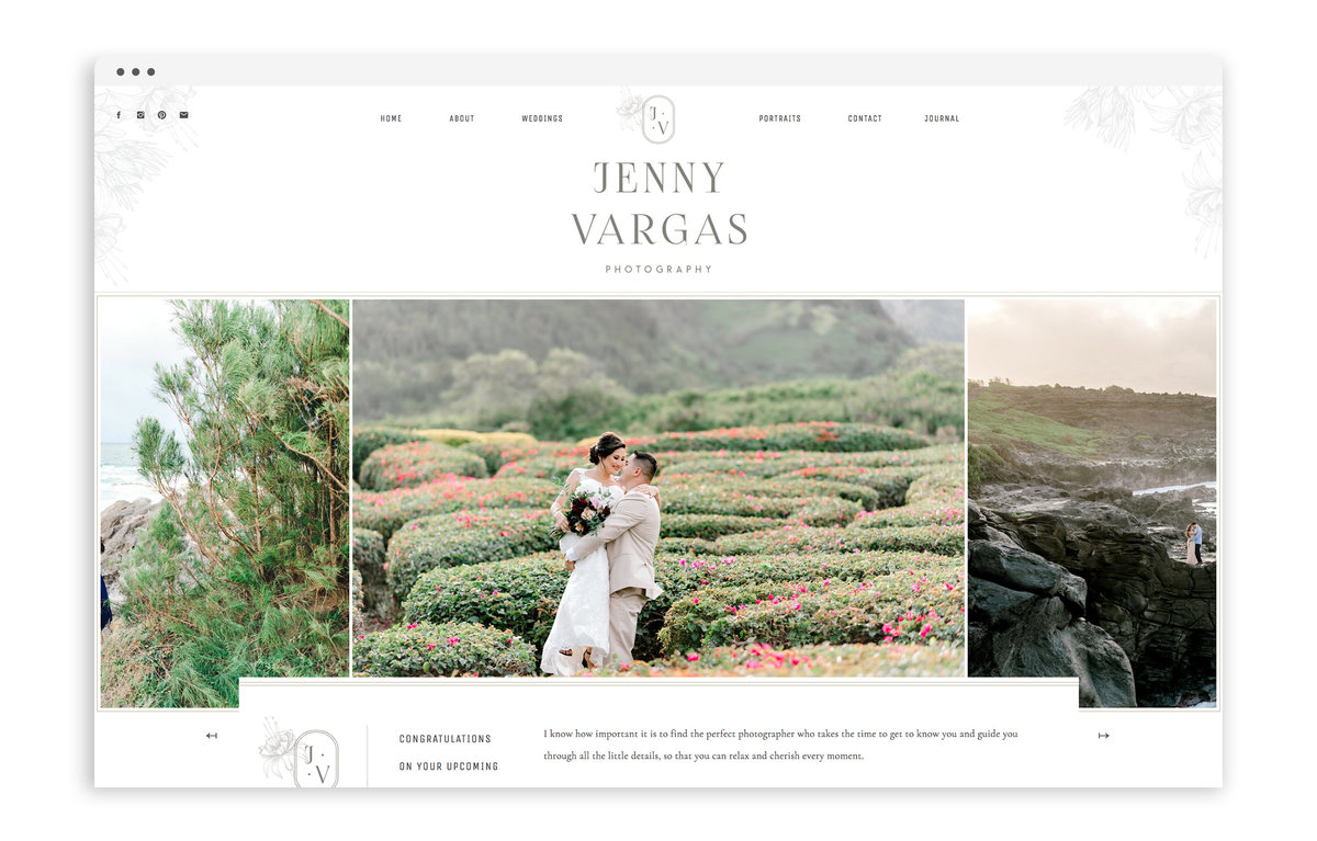 Jenny Vargas Photography - Custom Brand and Showit Web Design by With Grace and Gold - Showit Theme, Showit Themes, Showit Template, Showit Templates, Showit Design, Showit Designer - 0