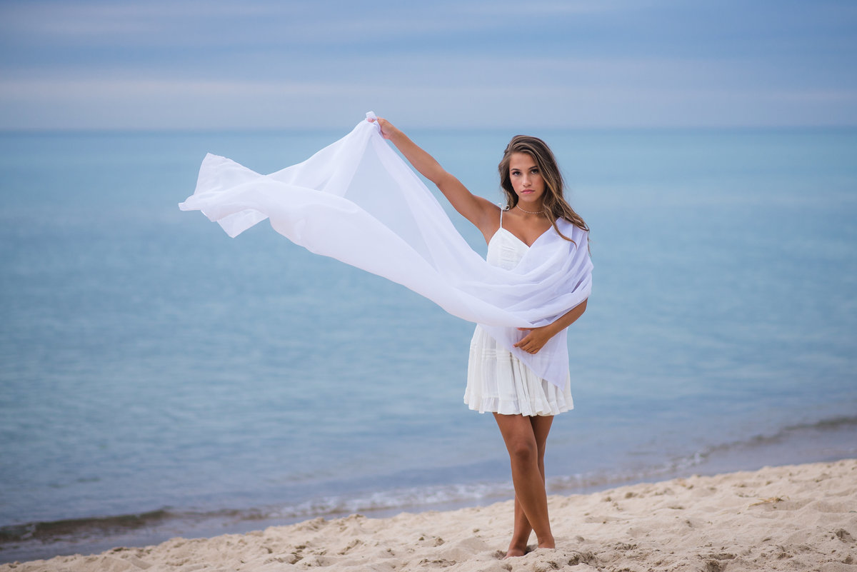 Senior Session Girl on Beach