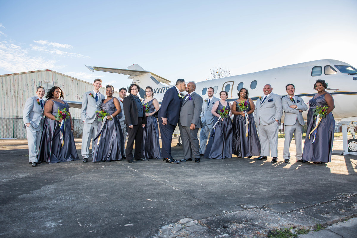 travel wedding grey