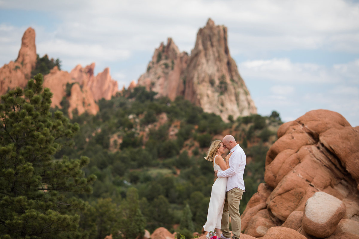 best view at garden of the gods with bride and groom