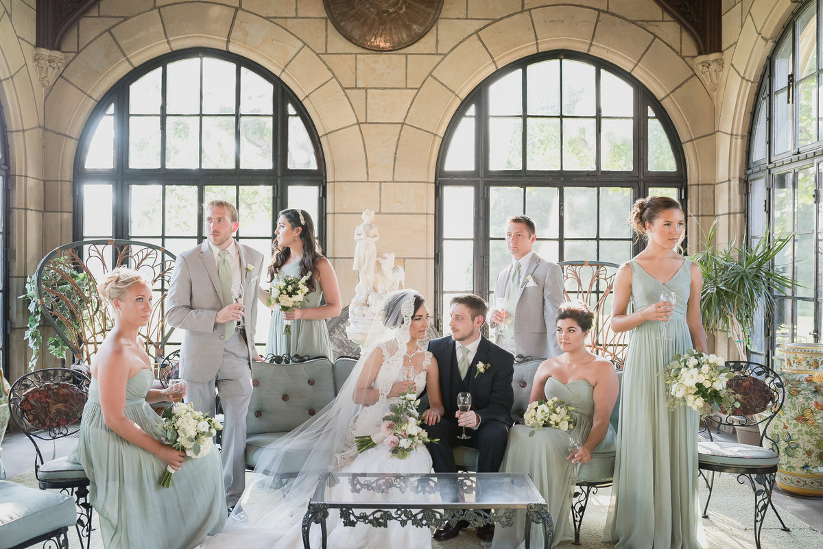 Meadow Brook Hall and Gardens summer wedding in Rochester Michigan by Kari Dawson Photography