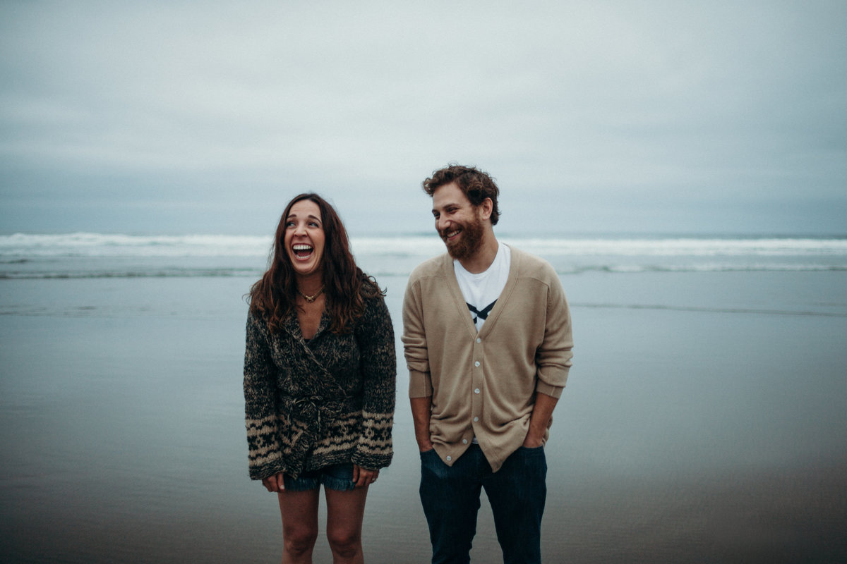 Cannon Beach engagement session by Greenville wedding Photographer Simply Violet Photography