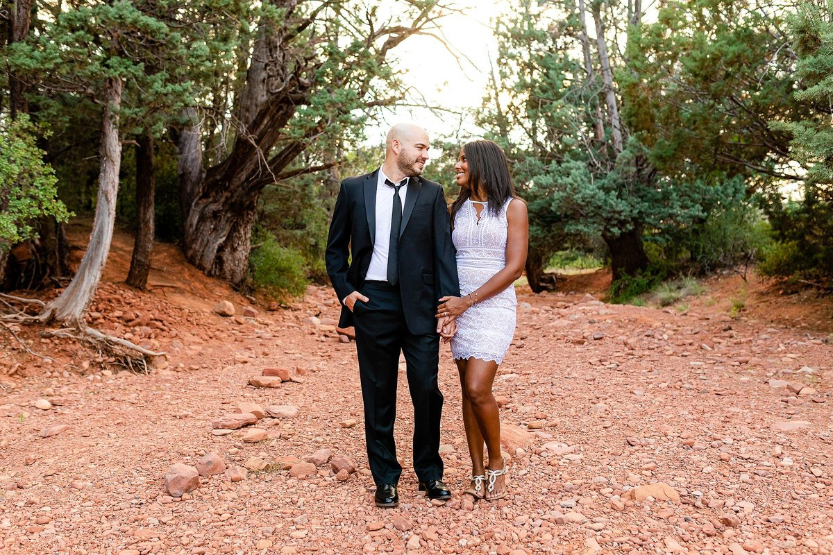 Monica + Austin - Sedona Engagement Session - Cathedral Rock - Lunabear Studios_0196