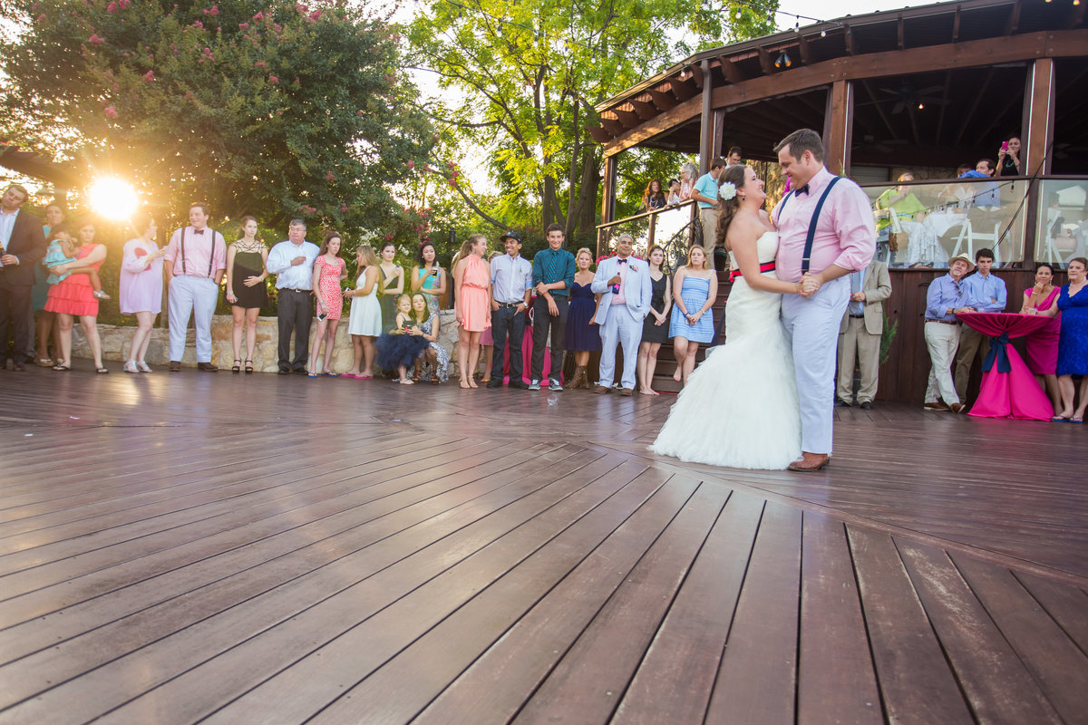 Nature's Point, Austin Family Photographer, Tiffany Chapman Photography bride and groom first dance at sunset photo
