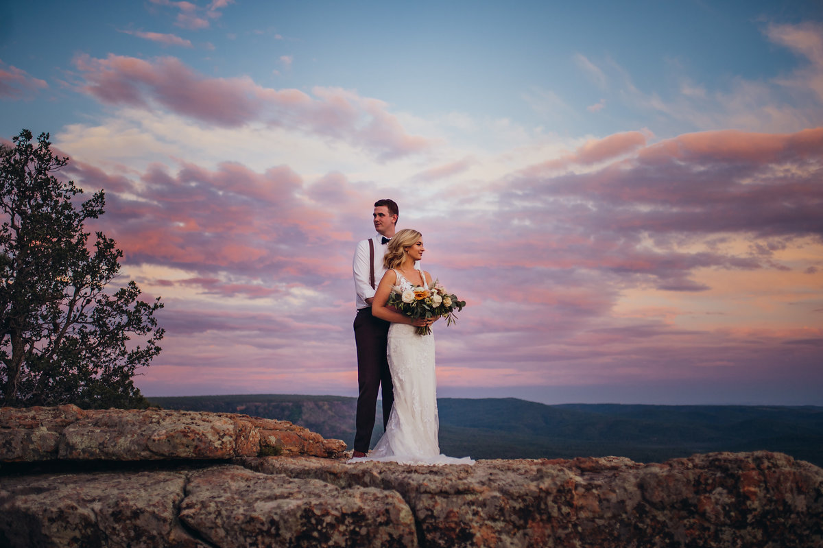 Right after their wedding in Pinetop, Arizona they enjoyed an adventurous day after session at the Mogollon Rim