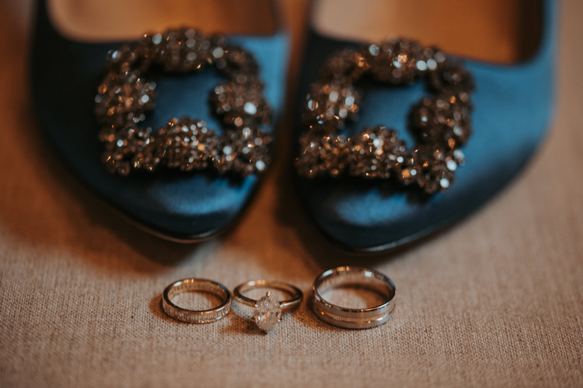 Rings for Montana wedding ceremony