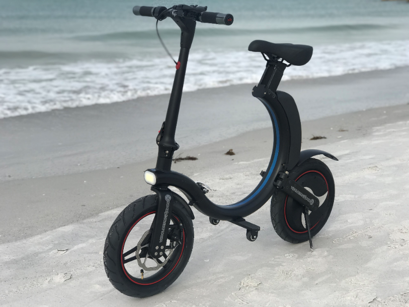 Black Go-Bike Q1 at the beach