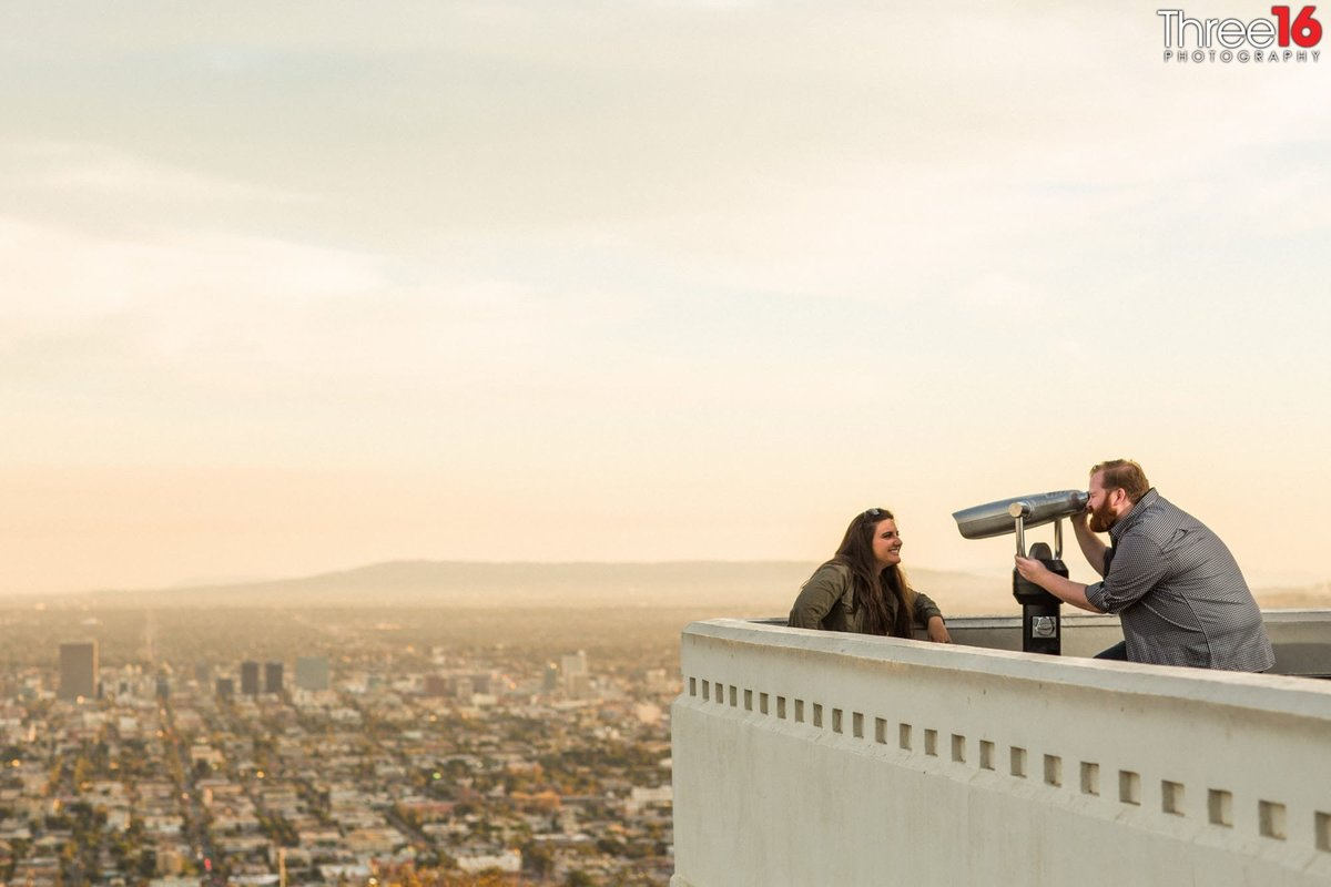 Griffith Observatory Engagement Photos Los Angeles Weddings Professional Photographer Unique