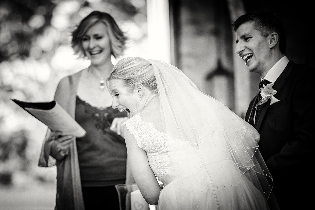 Those moments of spontaneous release during the wedding ceremony bring back memories and create emotion