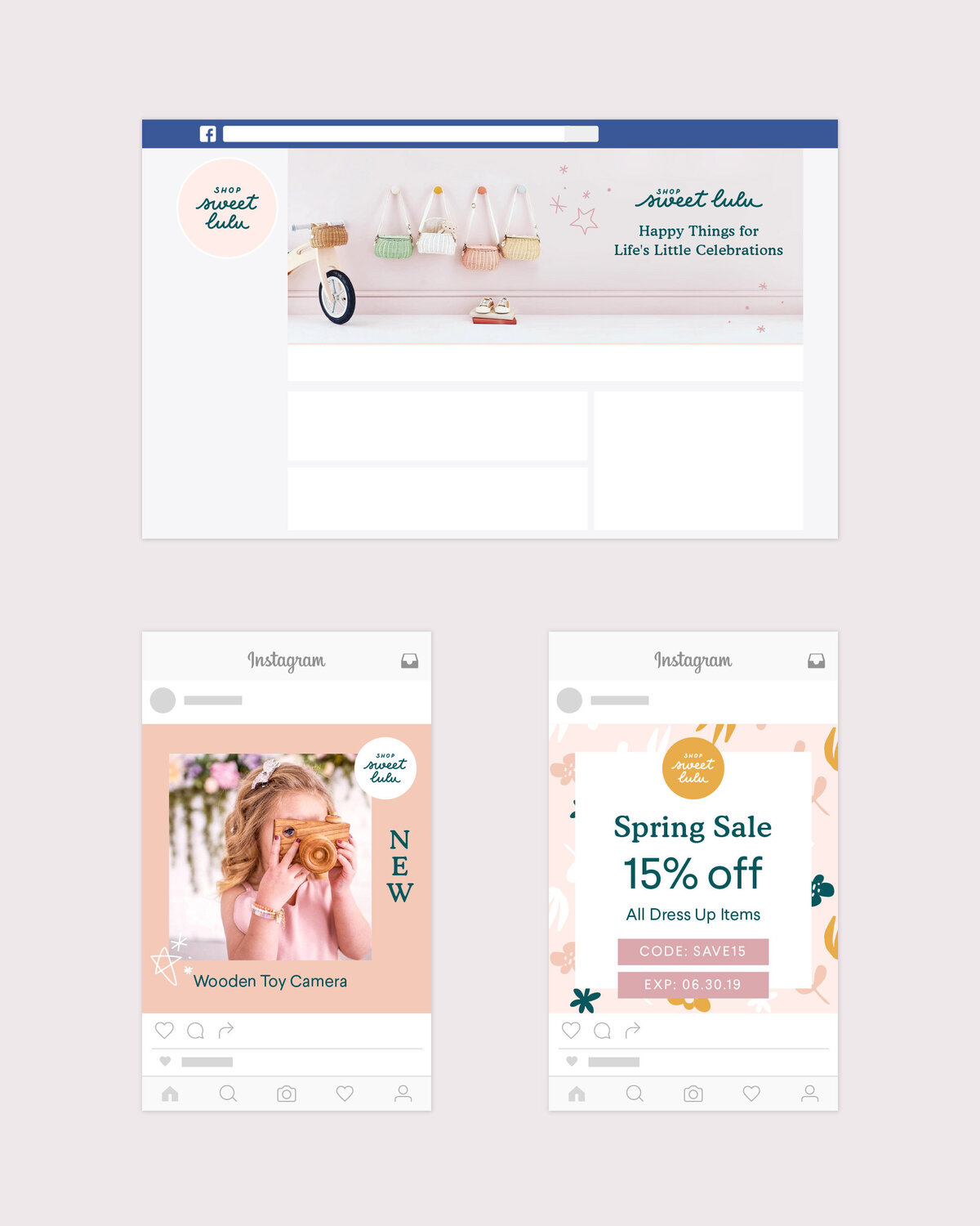 Instagram-Templates-For-Kids-Partyware-Online-Shop-Design-By-Kathy-Ramirez