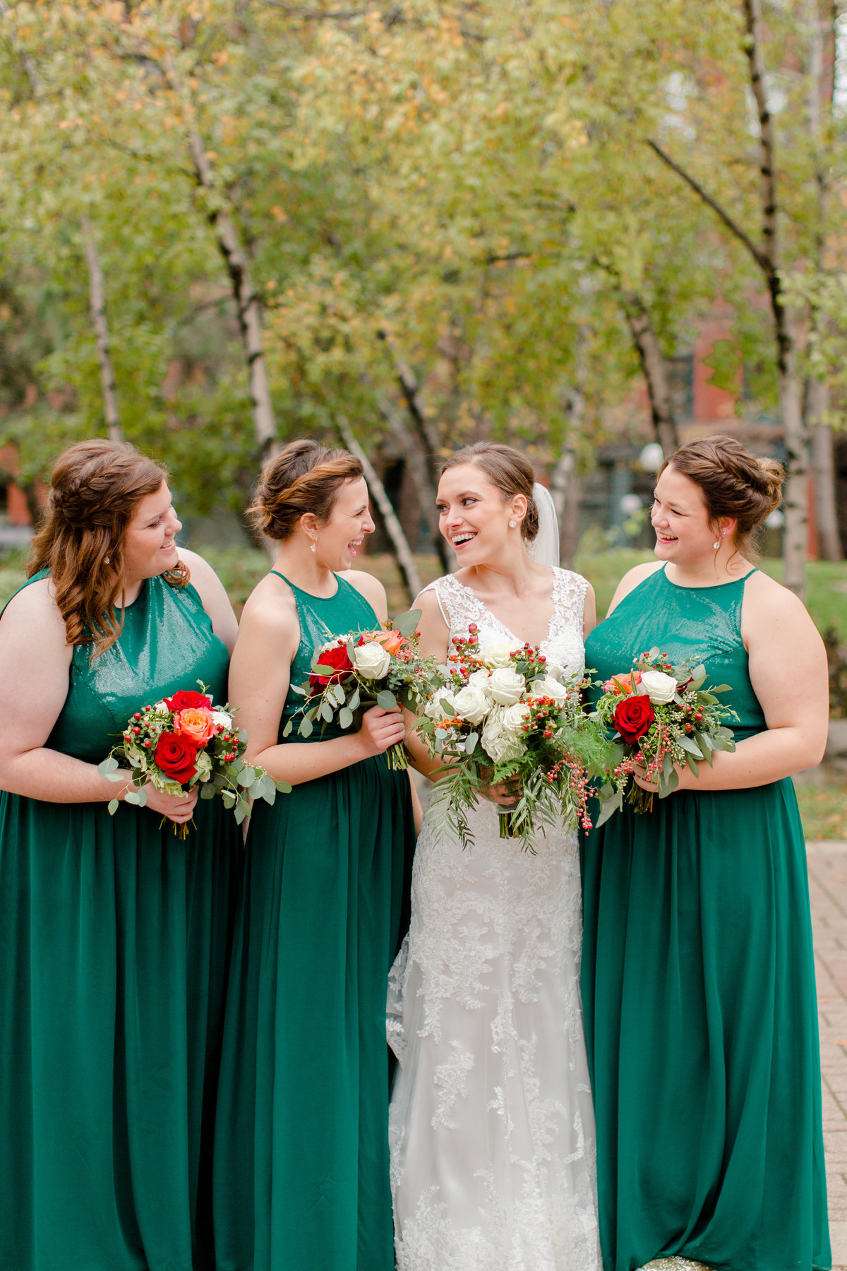 Luke and Ashley - Fall Wedding Pictures at Mears Park in Saint Paul, Minnesota