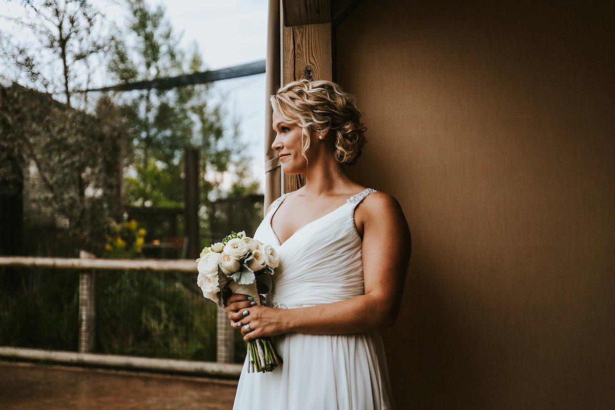 bride at Columbus Zoo in Columbus Ohio