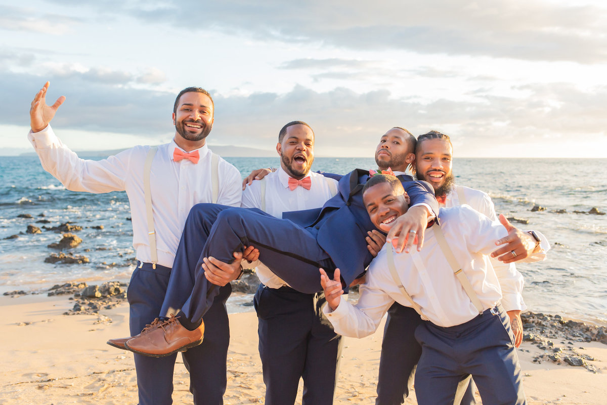 maui wedding photography - bridal party