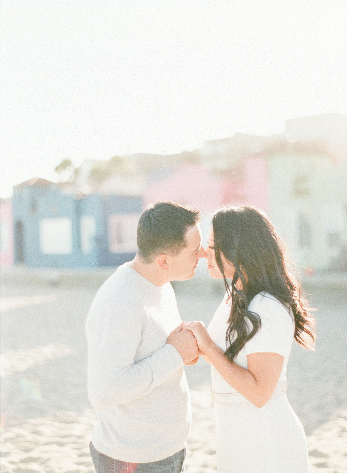 Capitola Beach Film Engagement Photography