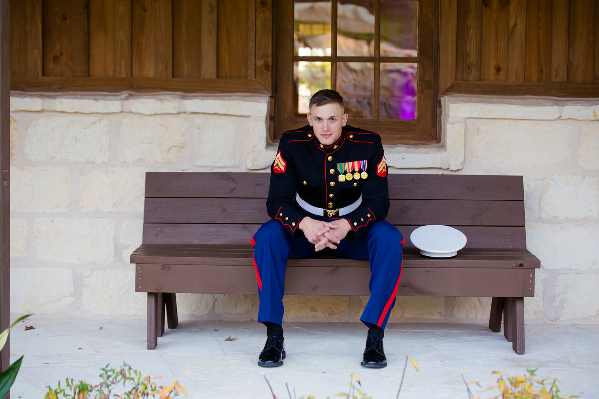 Marine Groom at The Springs Denton by Brittany Barclay Photography