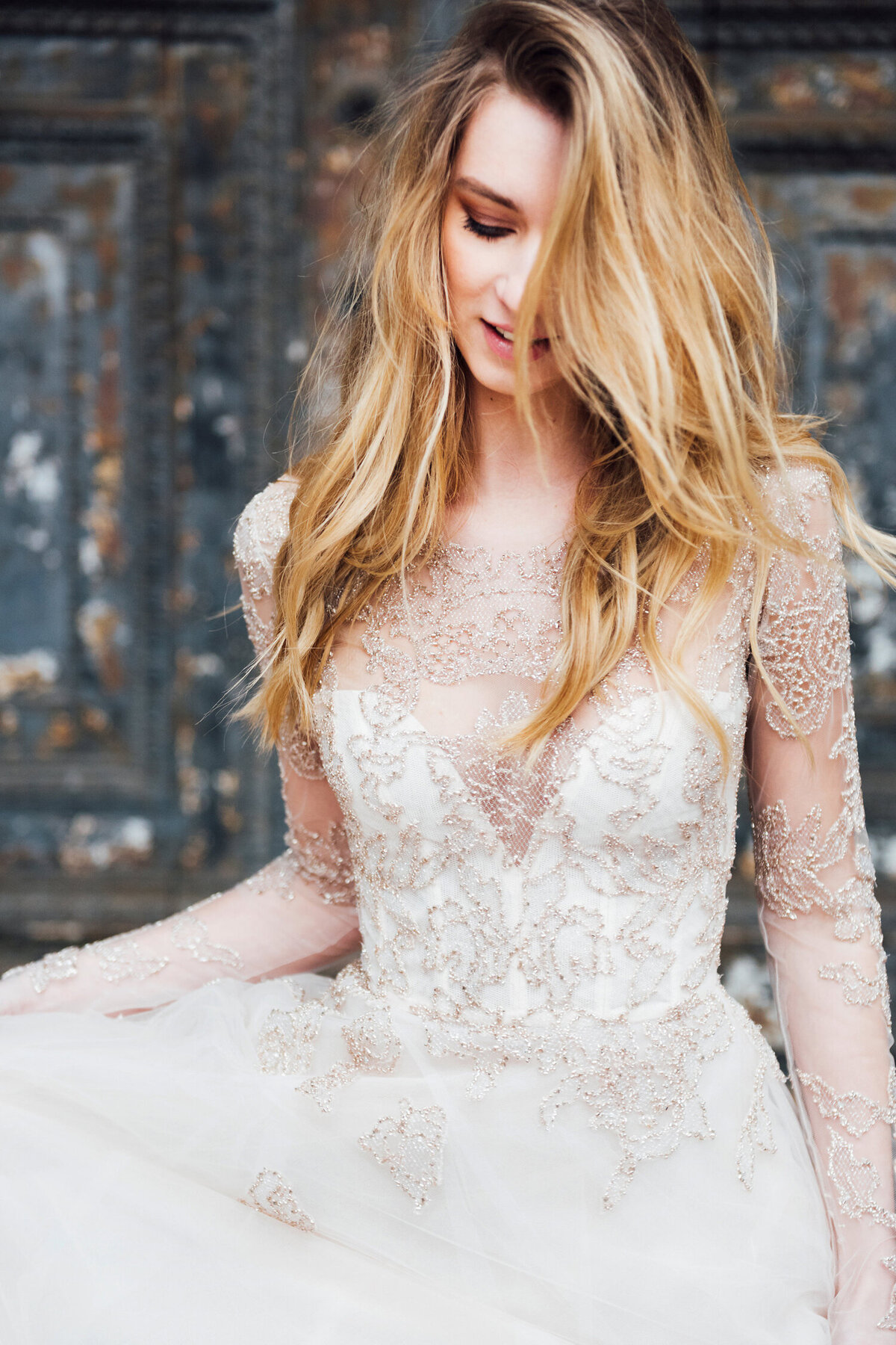 Katie Mitchell, Monique Lhuillier Bridal Paris France Wedding Trine Juel Hair and makeup 17