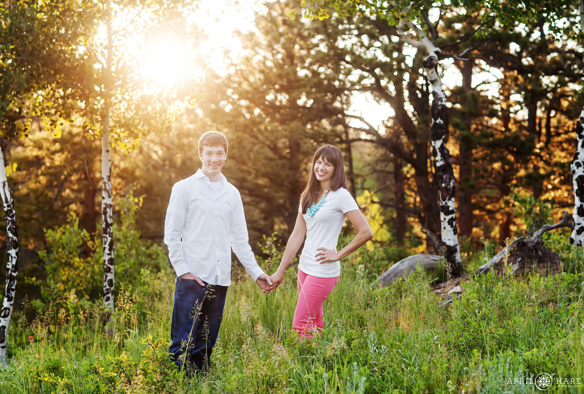 Pretty Light Golden Gate Canyon State Park Fall Engagement Photography