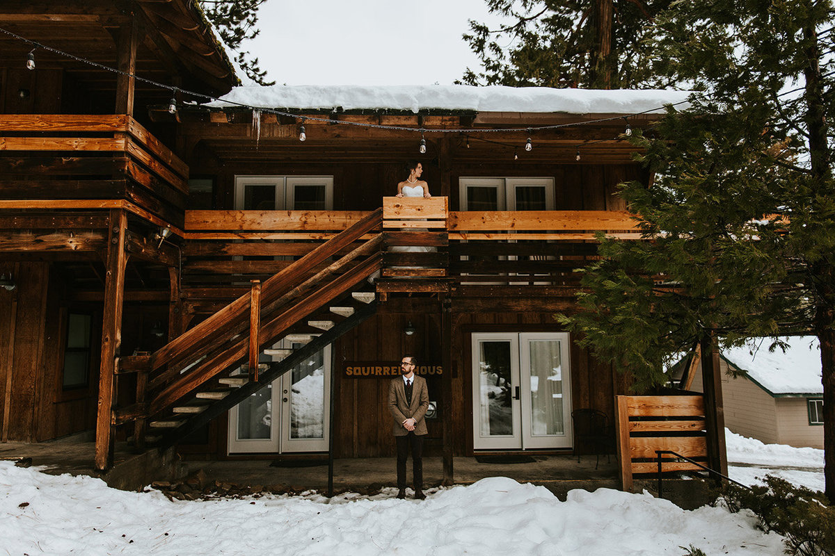 before their first look for the Lake Tahoe wedding