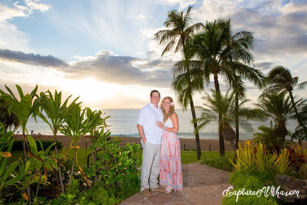 engaged-couple-tropical-setting
