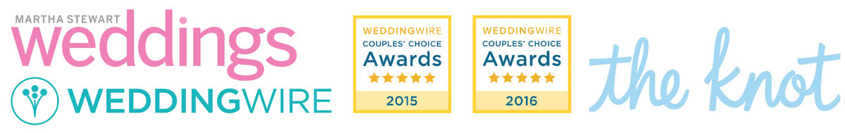 The Knot and Wedding Wire awards for outstanding performance for wedding video