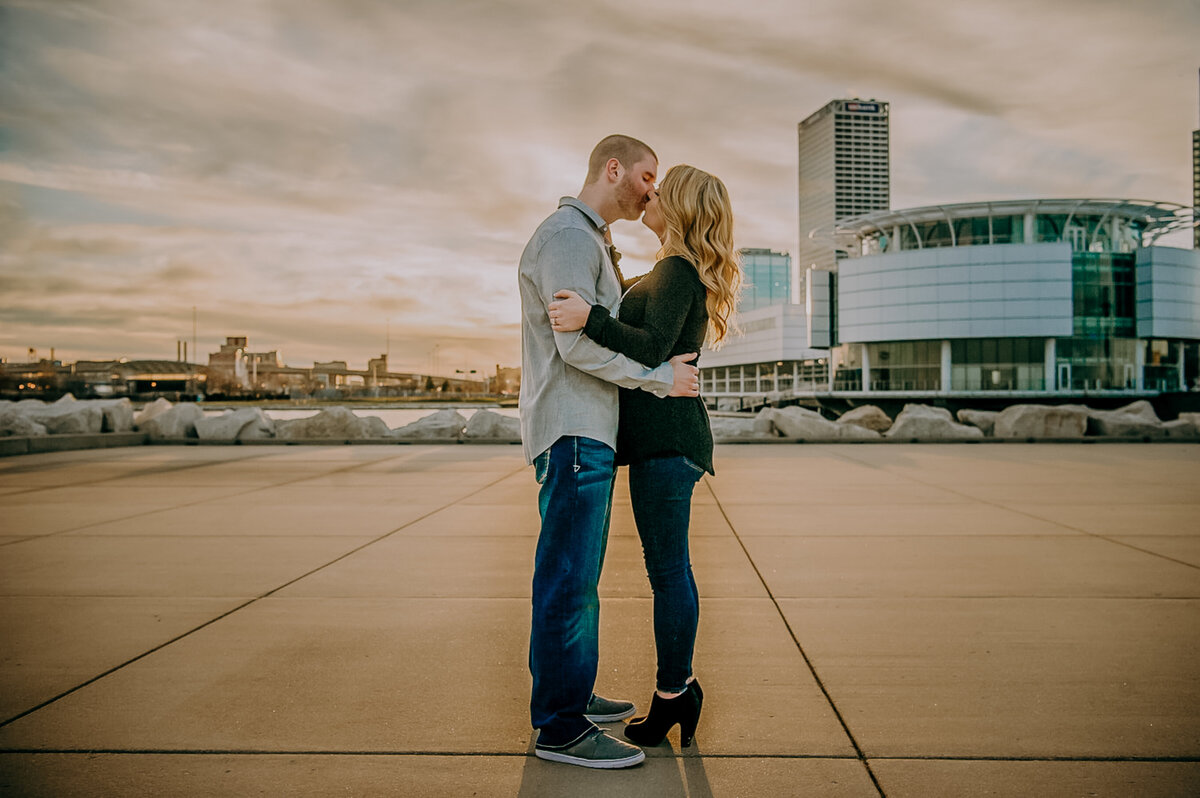 Leah Redmond Photography Wedding Couple Engagement Portrait Lifestyle Milwaukee Wisconsin Moody Natural Photographer Dark Architecture Architectural27