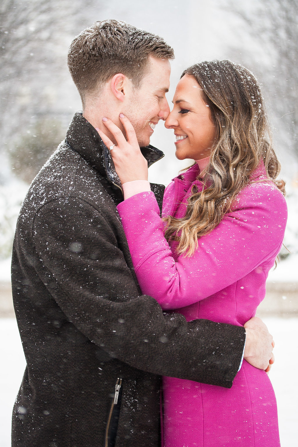 Millennium Park Chicago Illinois Winter Engagement Photographer Taylor Ingles 25