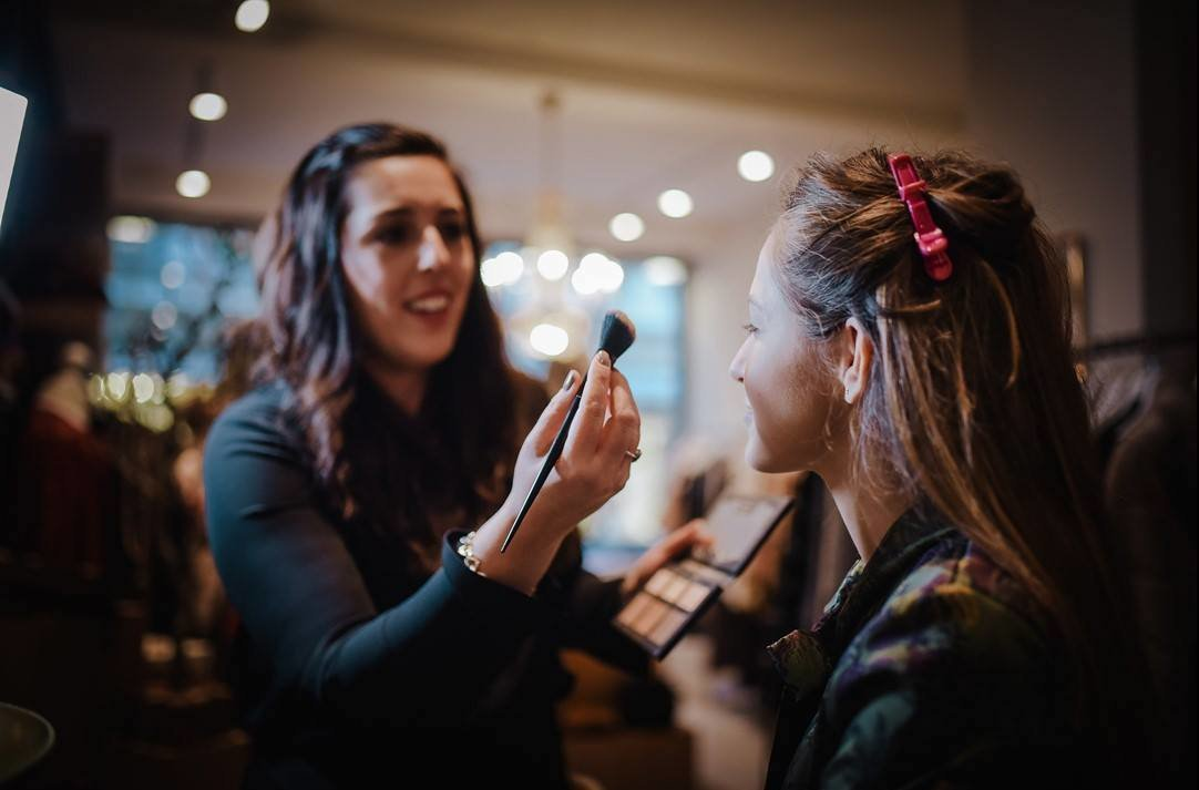 Natalie Setareh Makeup Artist Behind The Scenes Sip and Shop Event Wiesbaden