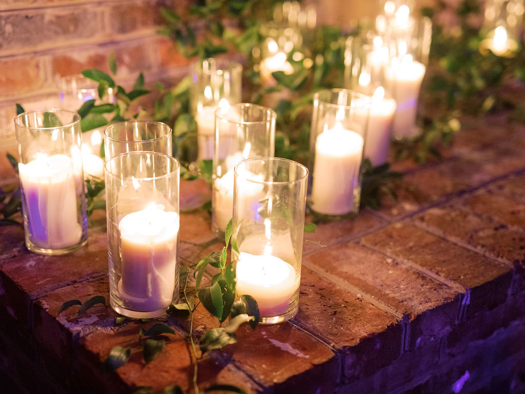 wedding florist delaware candles