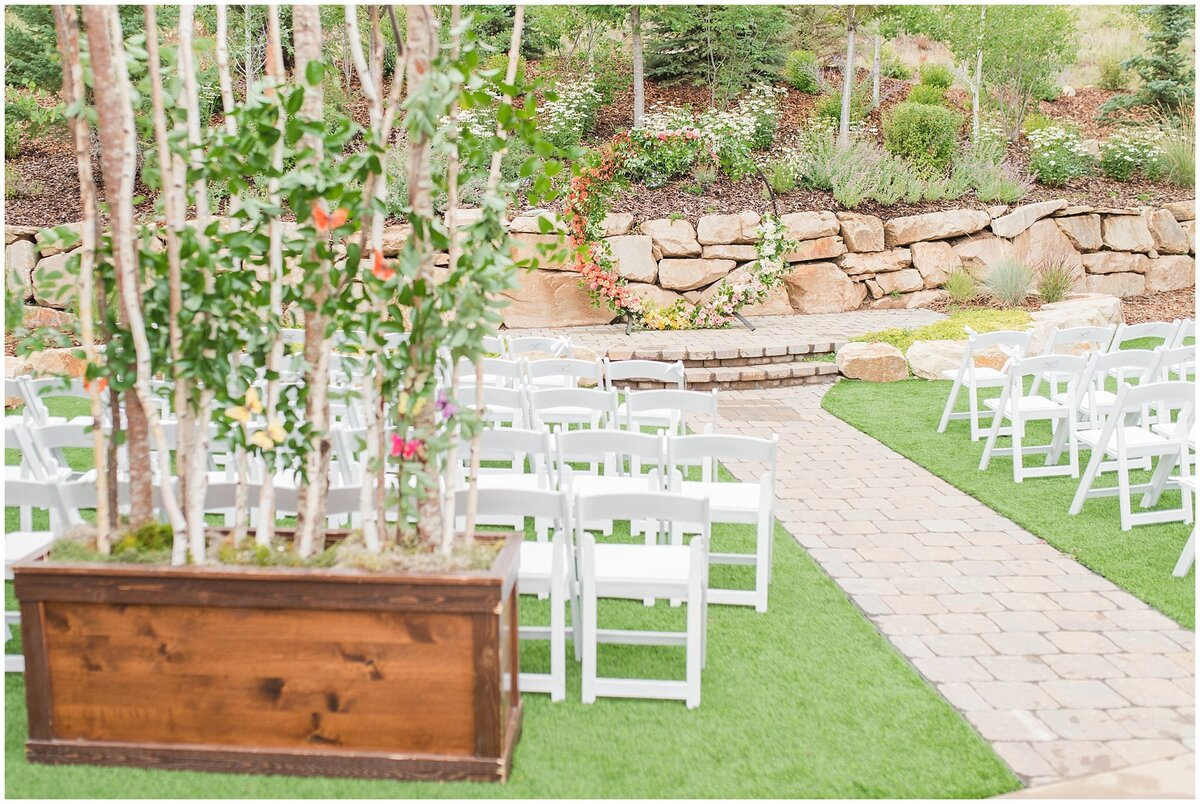 Ceremony site at the Hyatt Centric Park City