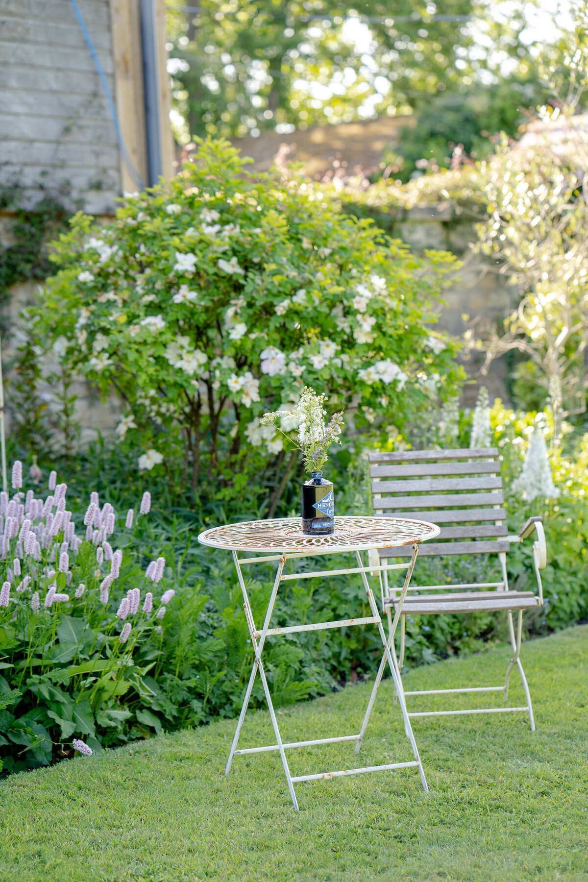 Garden table and chair. Creative photography Leeds