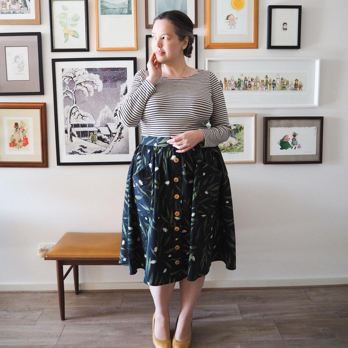 Lily Frocks and frou frou - eucalypt black skirt