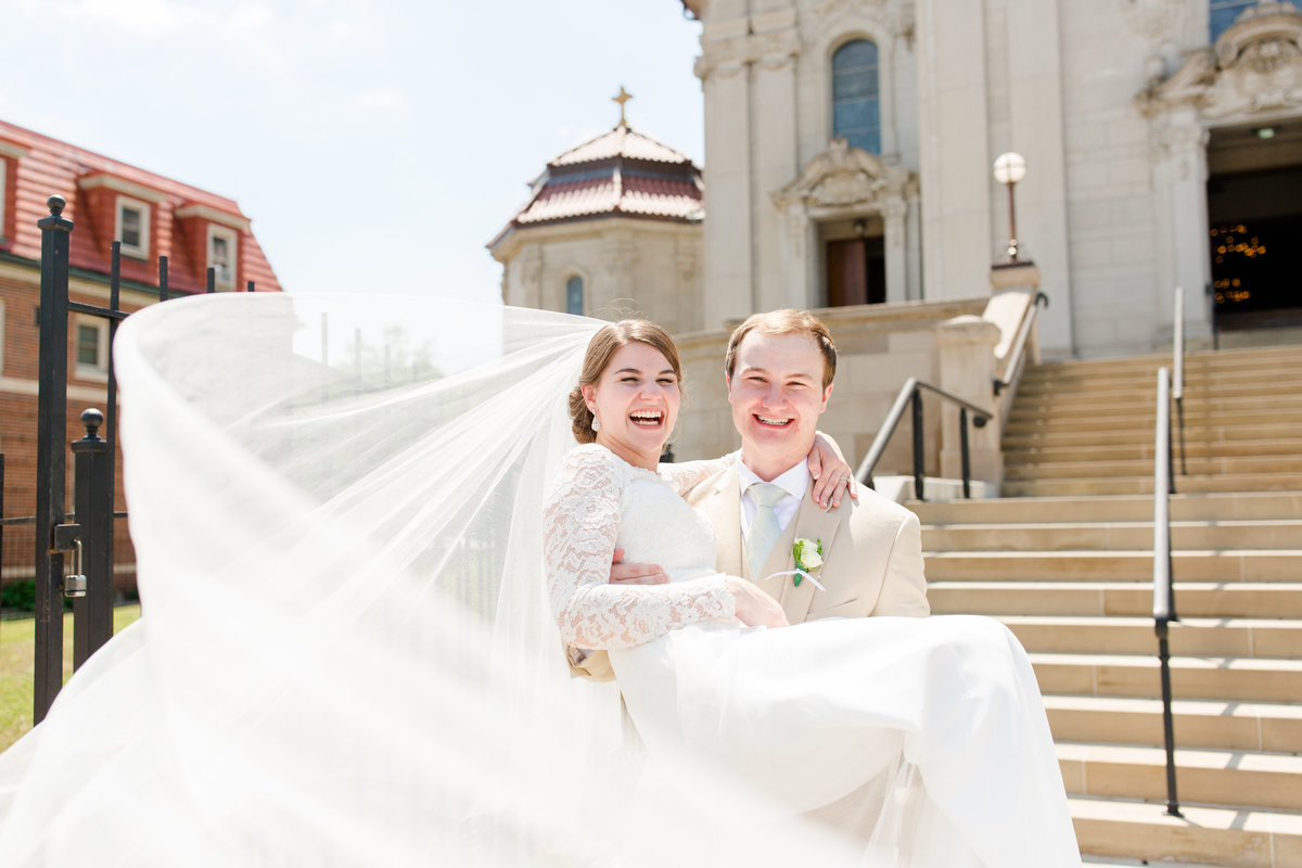 Saint Agnes Catholic Church - Summer catholic wedding vows - Saint Paul, Minnesota