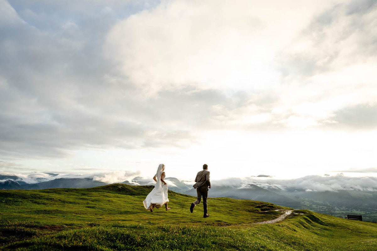 lake district mountain elopement by bristol wedding photographer