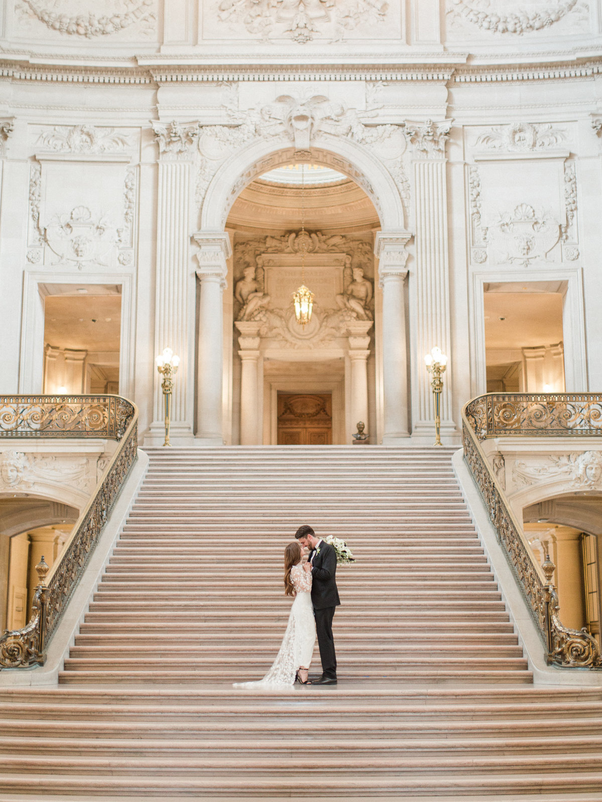 San Francisco City Hall Wedding with Jumpsuit-11