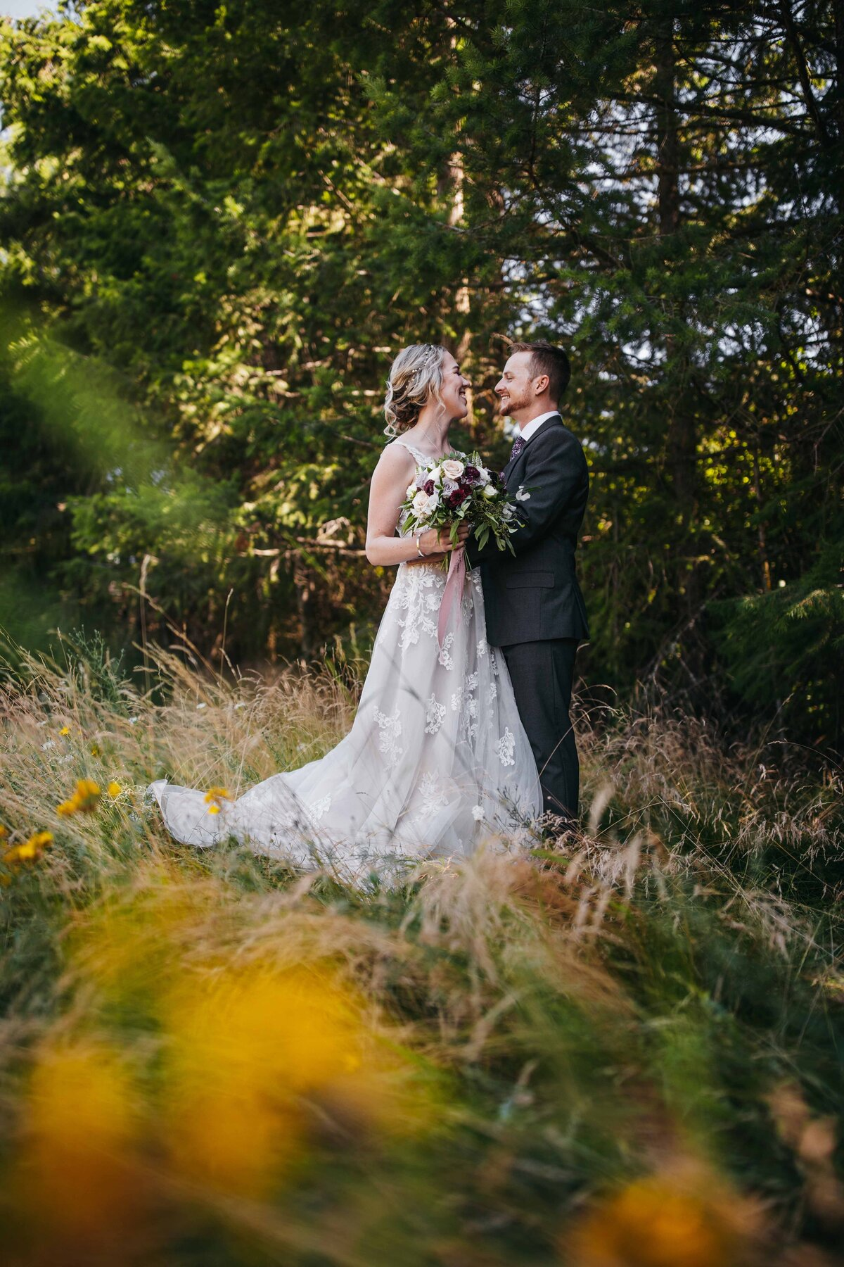 Outdoor Wedding Photographer in Mt Rainier National Park, Montana - Clara Jay Photo