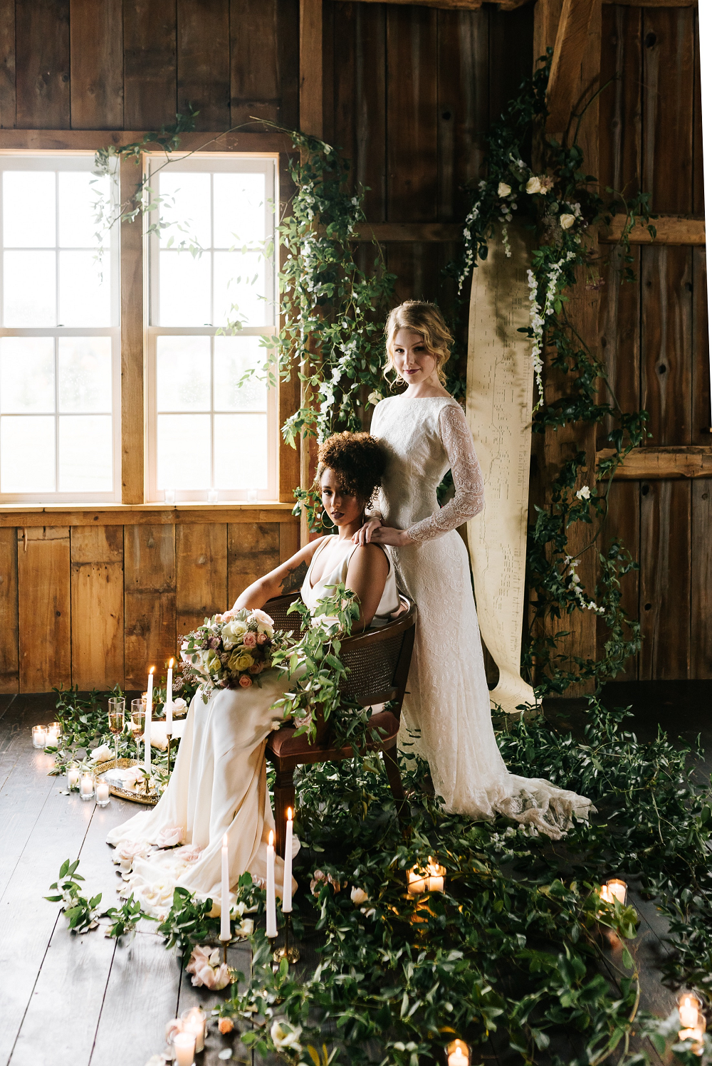 Lush Greenery Wedding Inspired Styled Shoot at Cornman Farms Brides among Vines