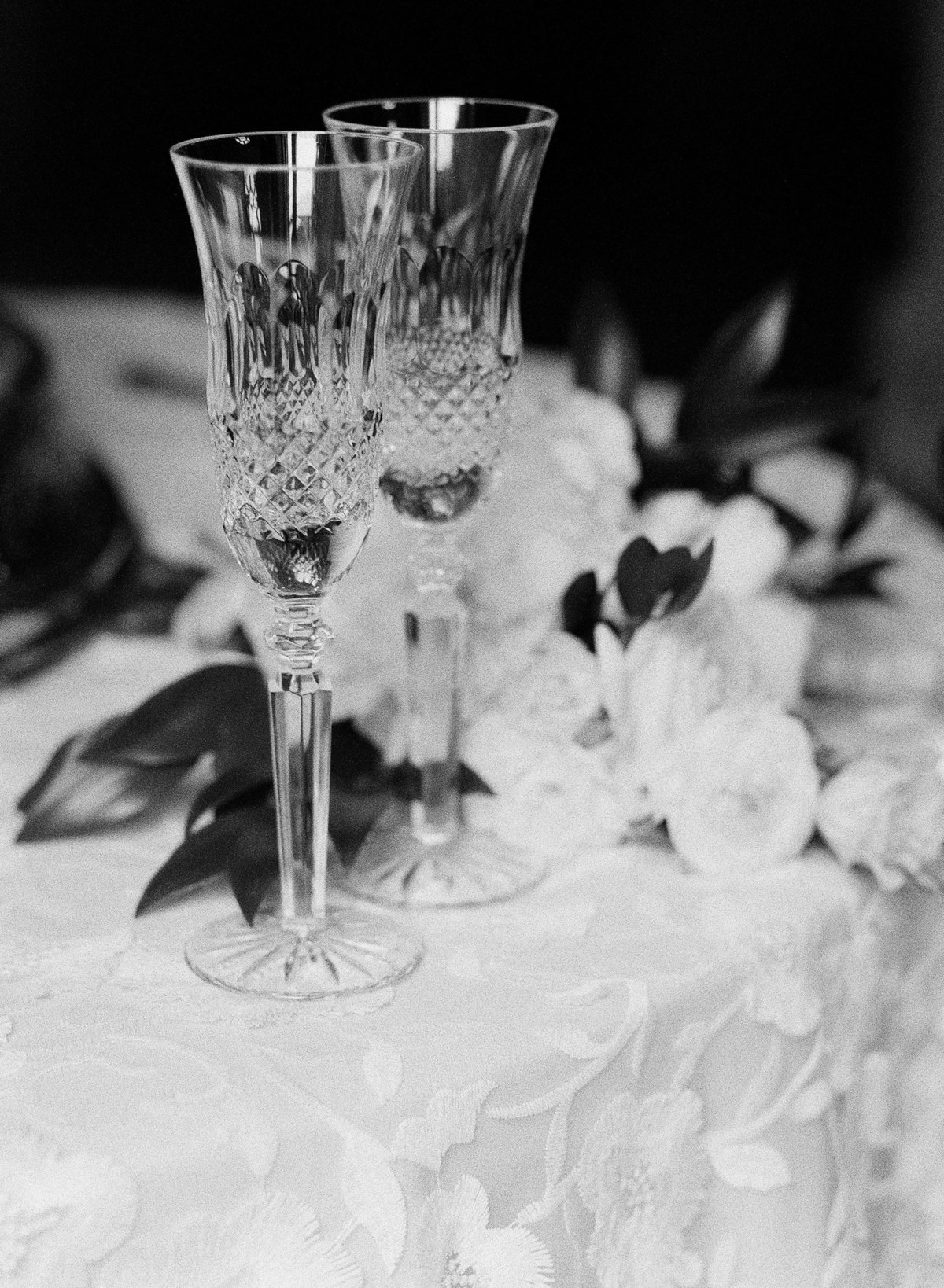Champagne Flutes at the Georgian Hall Wedding in Athens