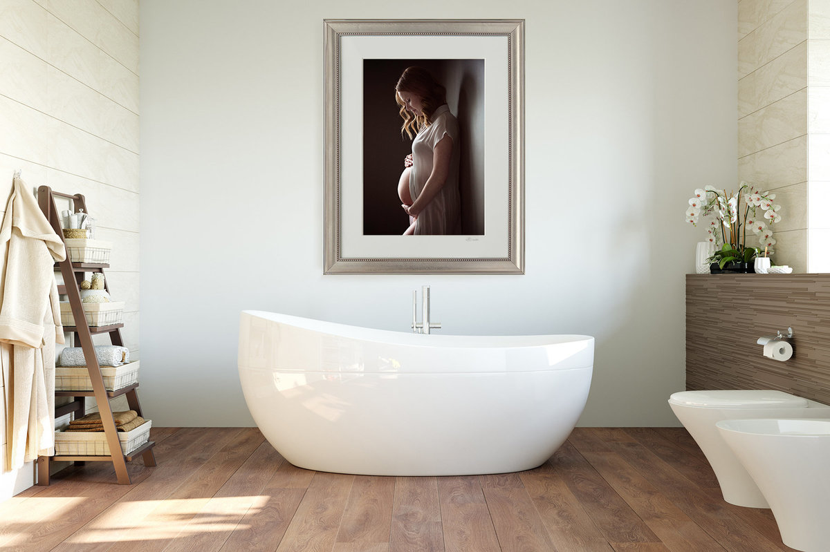 Waterloo Maternity Photography by Hannah Marie Master Bathroom s