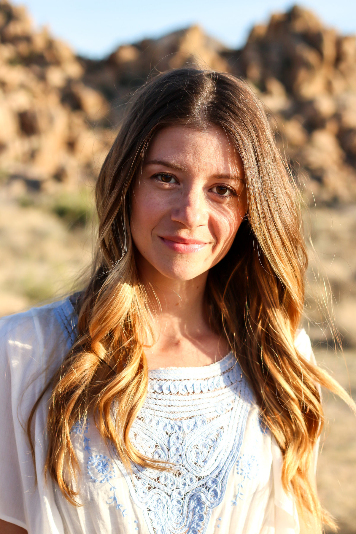 Joshua Tree styled professional headshot for young female entrepreneurs