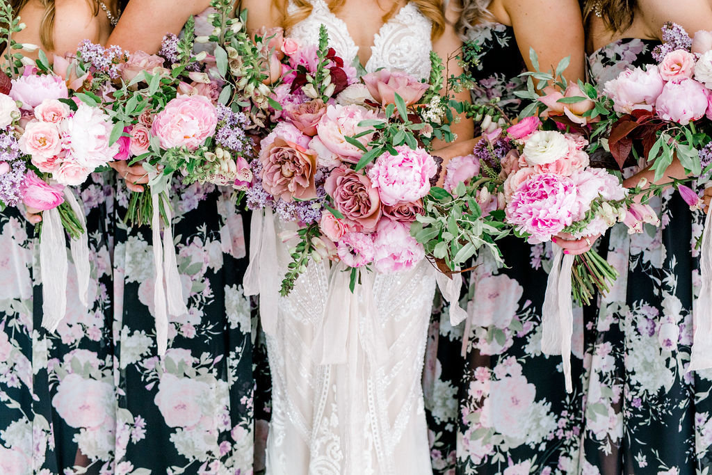 floral bridesmaid dresses trend