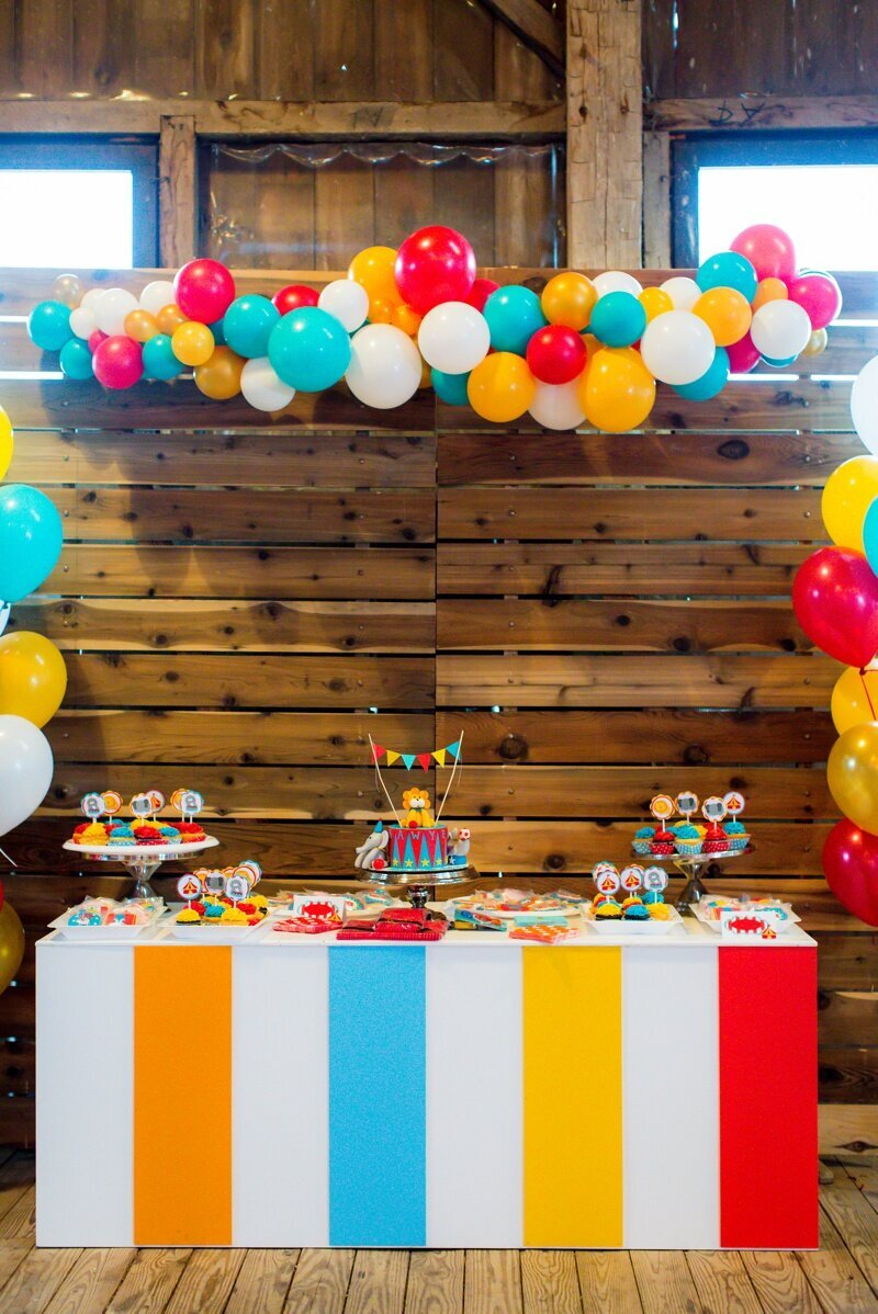 Circus Themed 1st Birthday Indianapolis Party Planner_0048