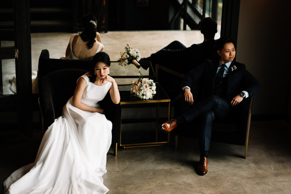 the astorian Houston wedding portrait