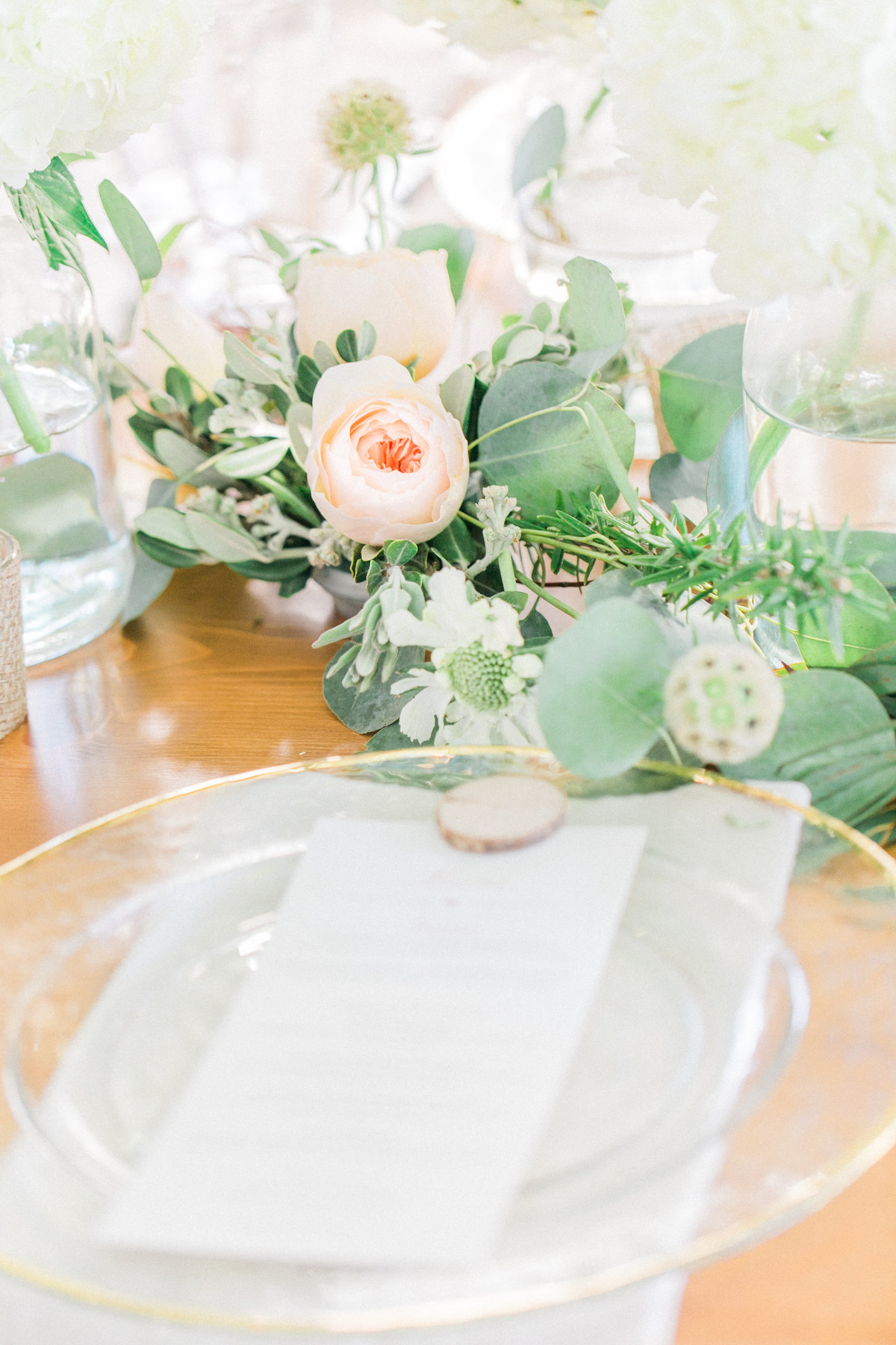 Blush and Ivory Wedding Reception Setting