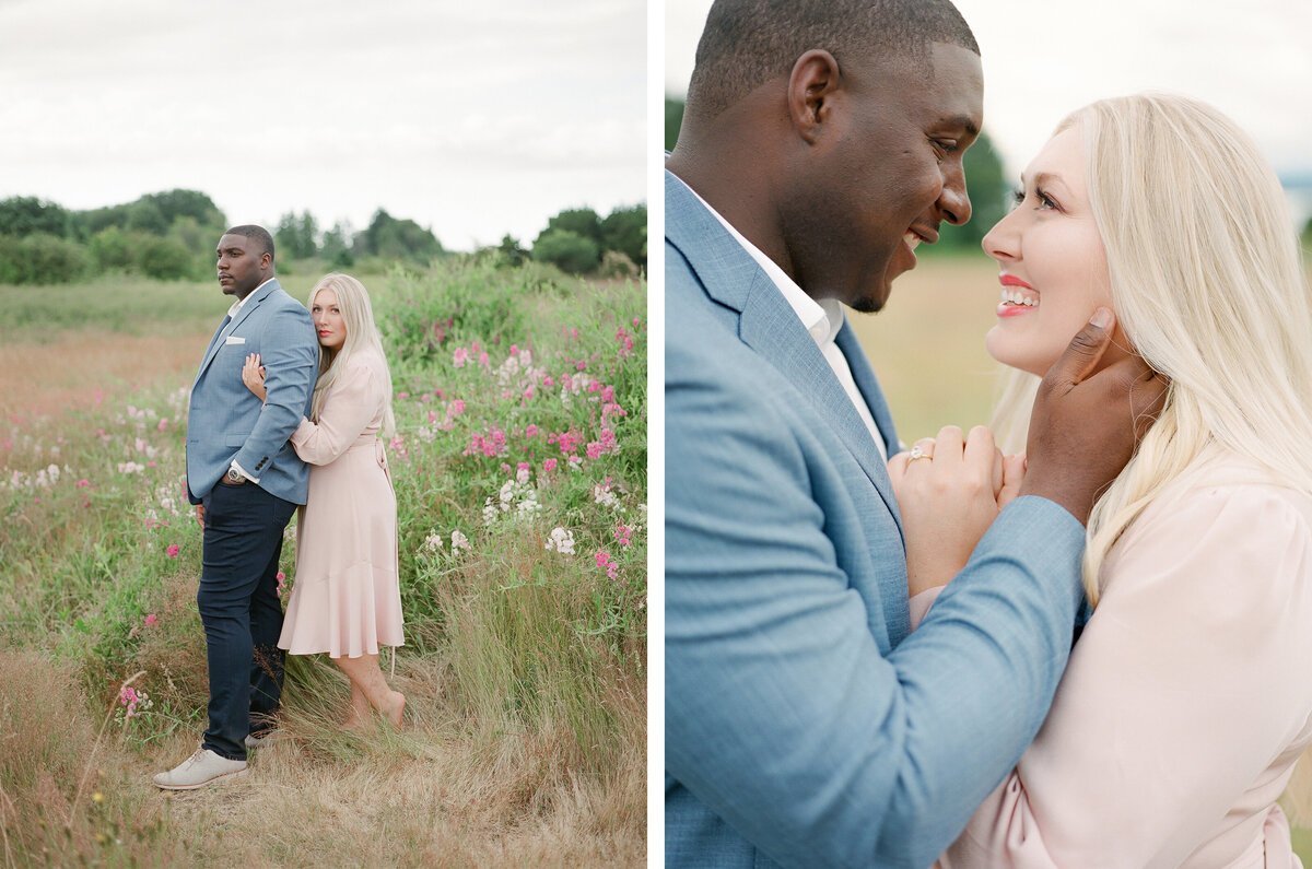 Discovery Park Engagement Session on Film - Tetiana Photography - Fine Art - Light and Airy -2